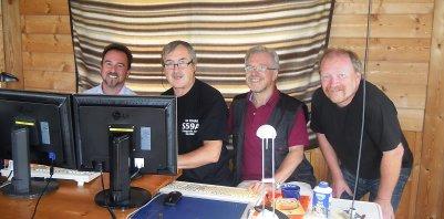 Thomas, OE6TZE - Drago, S59A - Harald, OE6GC - Werner, OE6FNG